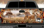 Tailgate Wrap Fall Autumn Season Camo With Deer Buck Does Truck Graphics Wt008tg