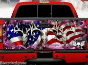 Tailgate Wrap Pink Camo Buck Skulls American Flag Truck Bed Graphics Ab-002tg