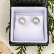18kt White Gold Paspaley South Sea Pearl Earrings Classic Stud 11mm Fashion