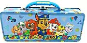 Paw Patrol Tool Box Tin School Pencil/pens With Handle Latch And Hinge New