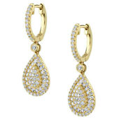 2.81ct Natural Round Diamond 14k Solid Yellow Gold Clip On Hoops Earrings