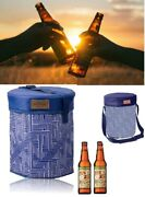 Compact Cooler Stool Basket Carry Bag Insulated Lunchboxes Picnic Outdoor Bar Au