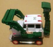 Rare - Green Hess 2013 Toy Tractor With Backhoe - Missing Scoop
