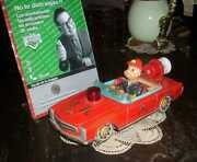Retro Tin Toy Car Fire Chief Modern Toys Japan With Details