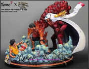 One Piece Mrcandyume Ace's Death Luffy Ace Red Dog Gk Statue Figure Model Toy