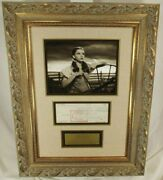 Judy Garland And039dorothy Wizard Ozand039 Document Signed Custom Framed Display Authentic