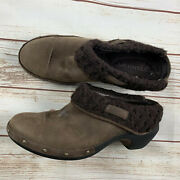 Merrell Womens Lux Knit Brown Leather Slip On Mule Shoes - Size 11