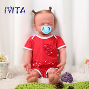Ivita 22and039and039 Lifelike Eyes Closed Silicone Reborn Doll Root Hair Baby Has Skeleton