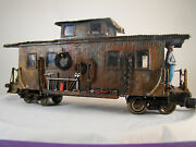 G Scale Handcrafted Logging / Maintenance Caboose - Custom Weathered - Lot B