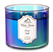 Bath And Body Works Snow Fall Scented Large 3-wick Candle White Barn 14.5 Oz