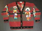 Traditional Trading Co. Sz Lg Cardigan Sweater Native American Indian Tribal