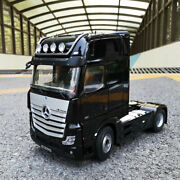 118 Nzg Mercedes-benz Actros Fh25 Truck Trailer Diecast Model Car Tow Tractor