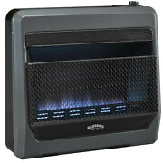 Bluegrass Living Propane Gas Ventfree Blue Flame Gas Heater With Blower And Feet