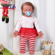 Ivita 22'' Full Silicone Reborn Girl Doll Root Hair Baby With Skeleton Xams Gift
