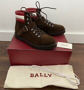 Bally X Swiss Champions Brown Suede Hiking Boots Us 8 Andmdash Msrp 895