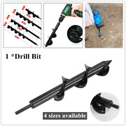 1pc Planting Auger Spiral Hole Drill Bit For Planting Bulbs Grass Stems Dig Hole