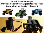 New 24v Charger B For The Gravedigger Power Wheels Toy Grave Digger
