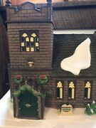 Dept 56 Dickens Village Sudbury Church And Old East Rectory 58322 - Excellent Cond