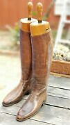 Antique Peal And Co Leather Riding Boots With Original Trees. Tennessee History.