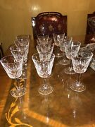White Wine Lismore By Waterford Crystal Set Of 12 Used