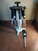 Set Of Gilson Pipetman Pipettes W/ Stand