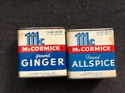 Vintage Mccormick Spice Tins 2pcs Ground Ginger And Allspice