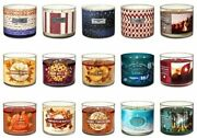 Bath And Body Works 3 Wick Scented Candles Choose Your Scent White Barn