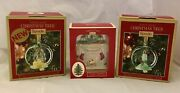 Spode Christmas Tree Ornament Lot Led Multicolor Glass Manger-candle-first Home