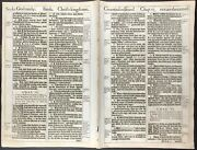 1611 King James Bible Leaf - Isaiah 7-9 Unto Us A Child Is Born 1613/11