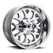 4 20x12 Fuel Polished Titan Wheel 5x139.7 And 5x150 For Ford Jeep Toyota Gm