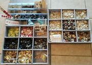 Huge Huge Lot Of Mixed Buttons Antique Vintage Modern Glass Shell Metal 8 Lbs