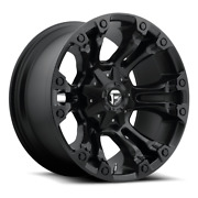 4 17x9 Fuel Matte Black Vapor Wheel 5x139.7 And 5x150 For Ford Jeep Toyota Gm