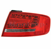 09-12 A4/10-12 S4 Outer Taillight Taillamp Rear Led Brake Light Lamp Right Side