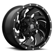 4 22x12 Fuel Gloss Black And Mill Cleaver Wheel 6x135 And 6x139.7 For Ford Jeep