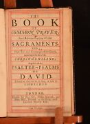 1680 The Book Of Common Prayer And Administrations Of The Sacraments