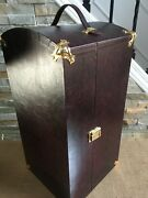Franklin Mint Gibson Girl Doll Trunk Wardrobe Case For 16 Doll And Ensembles