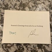 Trent Reznor Nine Inch Nails Signed Nothing Christmas Card Autograph Cut Auto