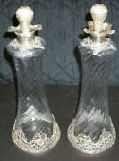 Sterling And Glass Victorian Decanters