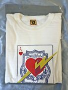 Human Made X Wtaps Ace Of Hearts T-shirt White 2xl 100 Authentic + New Ds