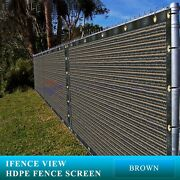 Ifenceview 6and039x3and039-6and039x100and039 Dark Brown Fence Privacy Screen Mesh Fabric Yard Garden