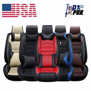 5d Luxury Pu Leather Seat Covers Universal 5-sit Front Rear Car Accessories Set