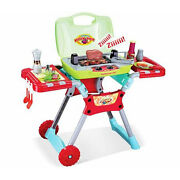 Lights And Sound Deluxe Kitchen Bbq Grill Pretend Cooking Play Set Birthday, Xmas