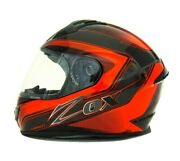 Zox Adult Unisex Oem Red And Black Odyssey Carbon Excalibur Helmet