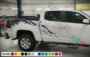Side Stripe Decal Sticker Kit For Gmc Canyon 2006 2019 Rear Bed Mud Splash Signs