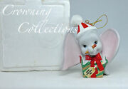 Grolier 1989 Dumbo Annual Ornament Disney Dated Porcelain 1st In Series Mip 1