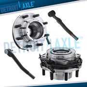 Front Wheel Hub Bearing + Outer Tierods For 2008 2009 2010 Ford F-350 Sd 4wd Drw
