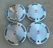 13 1985 86 87 88 89 Oldsmobile Calais Slot Type Hubcaps Wheel Covers 22520947