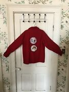 Vintage Boy Scout Wool Blend Red Jacket With Philmont And Oa Patches And Black Bull
