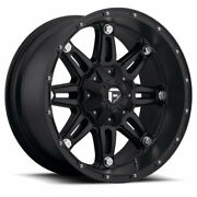 4 22x9.50 Fuel D531 Matte Black Hostage Wheels 6x135 6x139.7 For Toyota Jeep