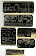 Vintage Willys Military Jeep M38 G740 Data Plate Set